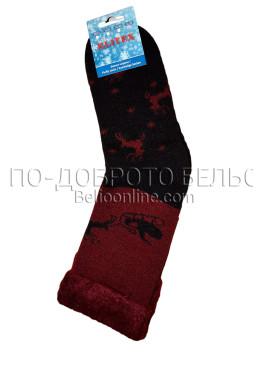 Мъжки дебели зимни пухкави чорапи Elitex 9369 с коледни мотиви