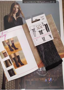 Модерни блестящи къси плътни чорапи с брукат SiSi Evento