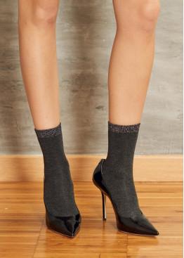 Модерни плътни къси чорапи с брукат SiSi Binomio