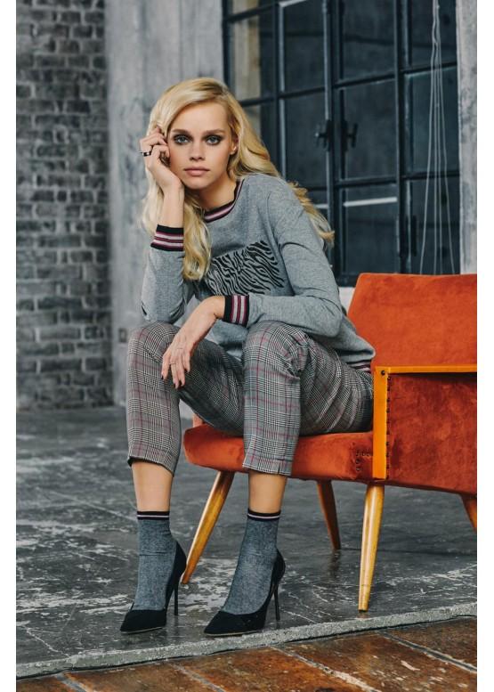 Модерни плътни къси чорапи с брукат SiSi Calzino Starlet