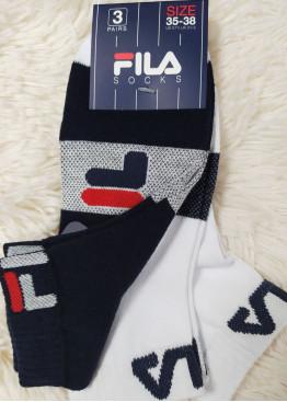 Памучни чорапи с къс конч Fila 9570 3бр.
