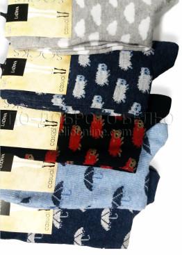 Памучни дамски чорапи с картинки La Diva 7510