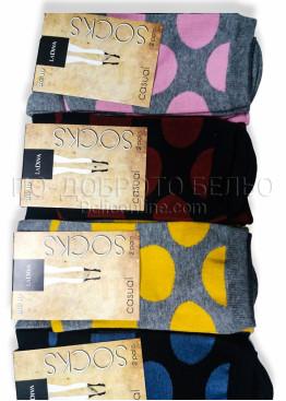 Памучни дамски чорапи с на големи точки La Diva 7511 2бр.