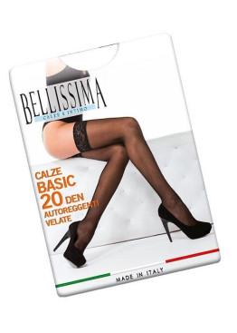 Силиконови чорапи  ликра Bellissima Basic 20 Lace Stay Up