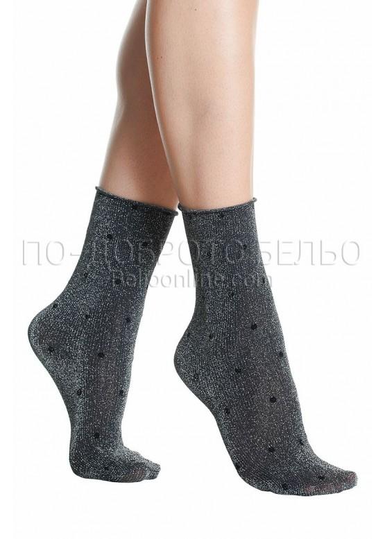 f029b643a8f Сребристи къси дамски чорапи на точки Pompea Argentina | По-доброто ...