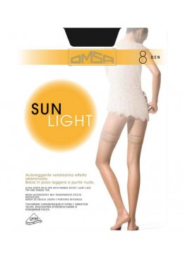 Тънки силиконови чорaпи Omsa Sun Light 8