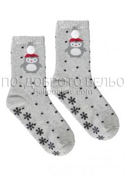 Вълнени коледни чорапи 6898