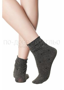 Златисти къси дамски чорапи на точки Pompea Argentina