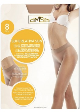 Безшевен чорапогащник със сребърни йони  Omsa Superlativa 8den