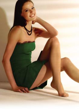 Копринен чорапогащник без ликра Donna BC Dalia Virgolet 15