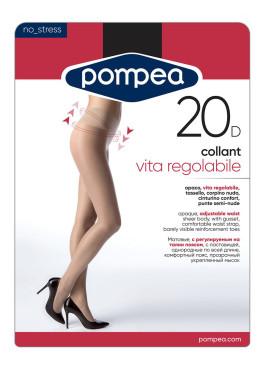Чорапогащник с регулираща се талия Pompea Vita Regolable 20den