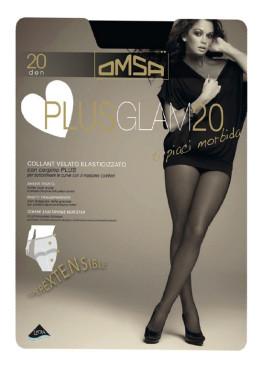 Чорапогащник за по-пълни дами Omsa Plus Glam 20