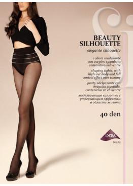 Луксозен чорапогащник със стягащи бикини SiSi Beauty Silhouette