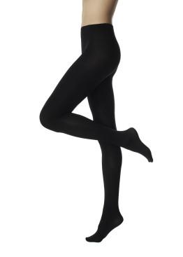 Плътен чорапогащник с копринен ефект от нанофибър Pompea Nanotech 70 Den в черно