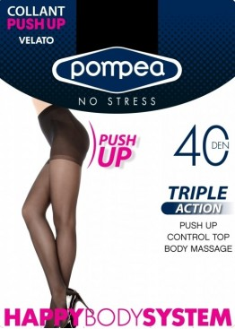 Push-up чорапогащник Pompea Triple action Carne 40 den