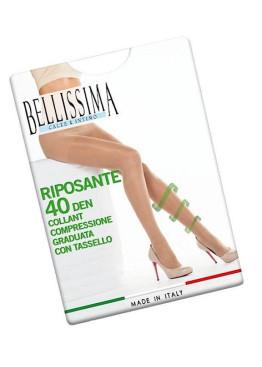 Стягащ чорапогащник с ликра Bellissima Riposante 40den