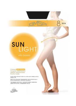 Тънък чорапогащник Omsa Sun Light vita bassa 8 den