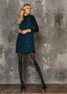 Дизайнерски блестящ фигурален чорапогащник на точки SiSi Macro Pois 30den
