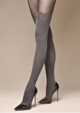 Дизайнерски фигурален чорапогащник имитиращ 7/8 чорап Philipe Matignon Diplomatico