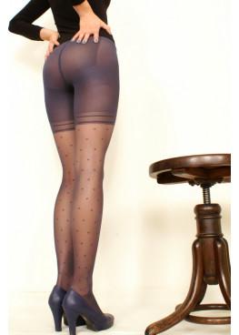 Елегантен фигурален чорапогащник със стягащ колан на точки Omsa Secretly 30den