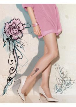 Елегантен фигурален чорапогащник   Tattoo 24