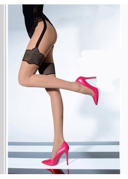 Фигурален чорапогащник имитация на жартиер