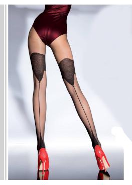 Фигурален чорапогащник като имитация на чорап