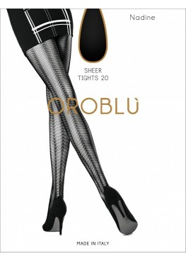 Фигурален чорапогащник Oroblu Nadine 20den