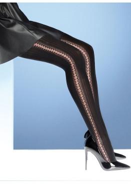 Фигурален чорапогащник с дантелена шарка Bellissima Chantal