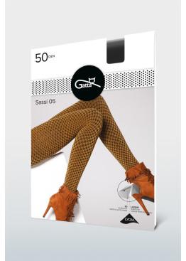 Фигурален плътен чорапогащник в пепит Gatta Sassi 05