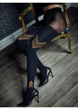 Луксозен фигурален чорапогащник с геометрични фигури Marilyn GUCCI G48