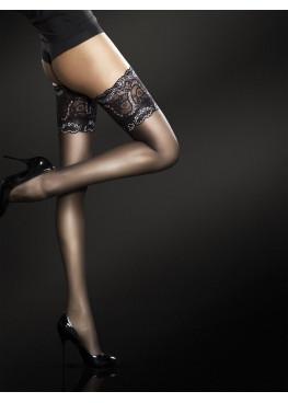 Луксозни чорапи със силикон с красива дантела 4003