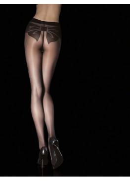 Секси фигурален  чорапогащник с панделка 5011