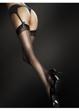 Луксозни чорапи за жартиери с ръб 4009