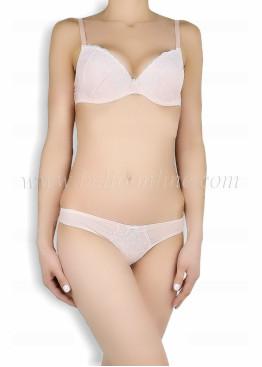 Дамско бельо комплект на точки с дантела Venera  Style 6041