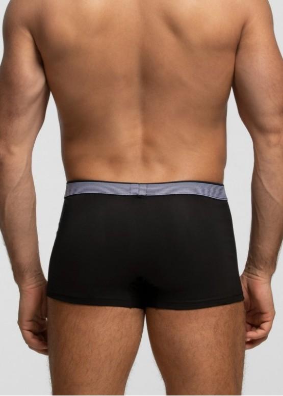 Мъжки памучни боксерки от фин памук Pompea Boxer U Cotton Planet в черно
