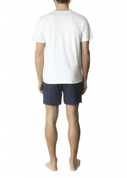 Мъжка лятна пижама с къс ръкав и къси панталони Pompea Amadeo