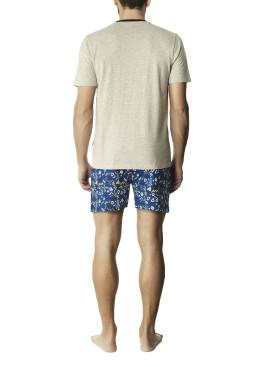 Мъжка лятна пижама с къс ръкав и къси панталони Pompea Boris