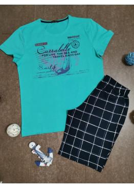 Мъжка памучна пижама от две части Иватекс 7972