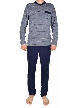 Мъжка пижама с дълъг ръкав IvaTex 7967