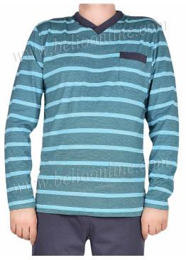 Мъжка пижама с дълъг ръкав IvaTex 7968