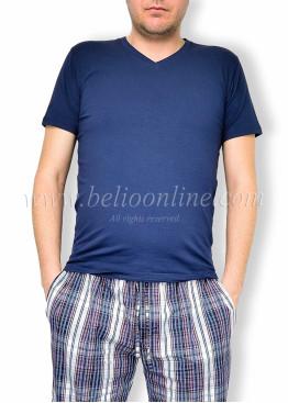 Мъжка пижама с къс ръкав и долнище от хасе Lord 6056