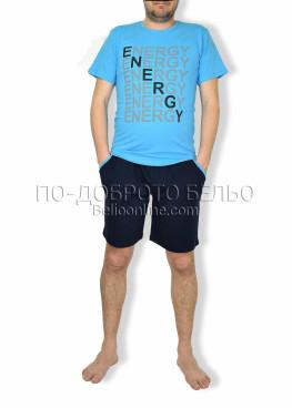 Мъжка пижама с къс ръкав Spico 6173