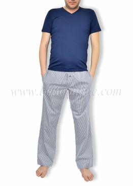 Мъжка пижама с V деколте и долнище от хасе Lord 6057