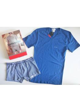 Мъжки комплект бельо Pierre Cardin в синьо 9517