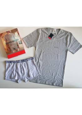 Мъжки комплект бельо Pierre Cardin в сиво 9517