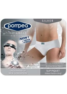 Мъжки безшевни слипове POMPEA Slip Moving Silver