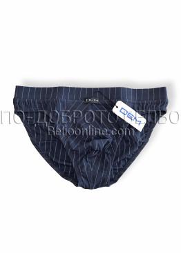 Мъжки слипове от памук Dem 1032 с облечен ластик райе