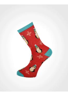 Коледни мъжки чорапи 7672 със снежни човеци
