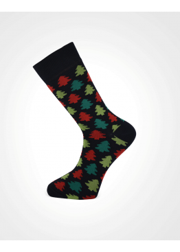 Коледни мъжки чорапи 7699 с елхички